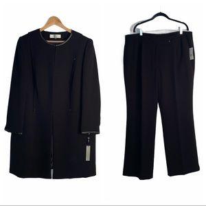Tahari Black Suit Set (Jacket and Pants)